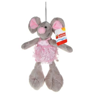 264-223 МЕШОК ПОДАРКОВ Игрушка мягкая в виде мыши, 30-35см, плюш, 2-4 цвета