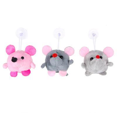 264-225 МЕШОК ПОДАРКОВ Игрушка мягкая мышка с подвесом, 4-8см, плюш, 1-3 цвета