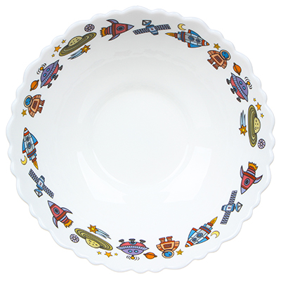 829-193 MILLIMI Бабуся Ягуся Тарелка суповая 15см, опаловое стекло