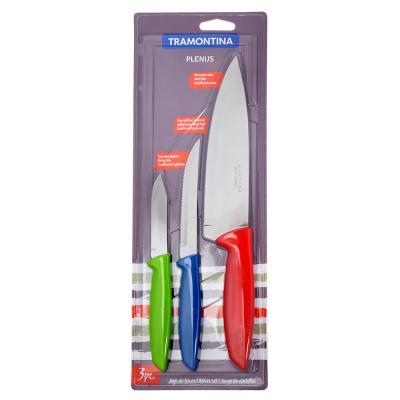 """871-520 Tramontina Plenus Набор ножей 3пр (3"""",5"""",7""""), 23498/920"""