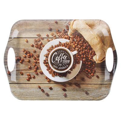 862-399 VETTA Аромат кофе Поднос, пластик, 36х26х1,5см