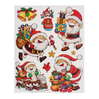 336-356 Новогодние наклейки СНОУ БУМ ПВХ, 30х38 см, 2 дизайна