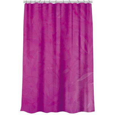 461-504 VETTA Шторка для ванной, винил, 180x180см, 12 колец, с рисунком цветов, 2 дизайна