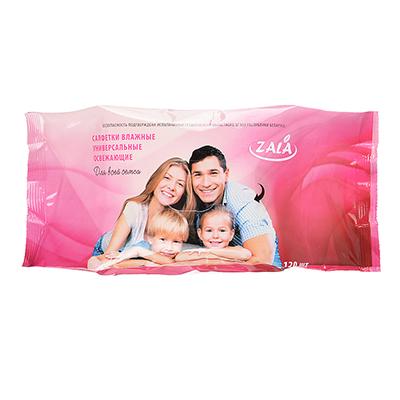 914-027 Салфетки влажные универсальные для всей семьи, 120 шт., арт. ZL26120
