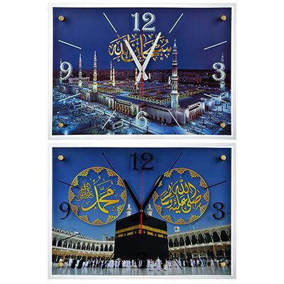 500-004 Часы настенные прямоугольной формы, стекло, 57х41х4см, 2 дизайна, МТ