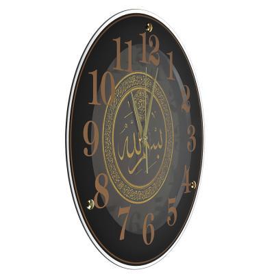 500-005 Часы настенные круглые, 39см, стекло, 2 дизайна, МТ 2