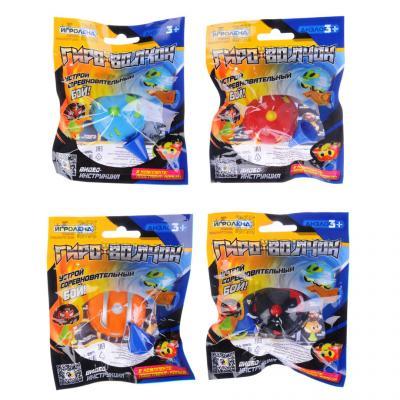 295-169 ИГРОЛЕНД Гиро-волчок, пластик, 14х11,5х2см, 4 дизайна