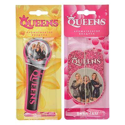 794-569 NEW GALAXY Ароматизатор бумажный Queens, бабл гам, ваниль