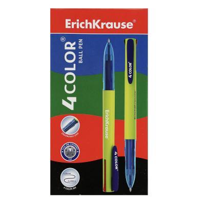 """622-026 Erich Krause Авторучка шариковая 4-цветная """"4 Color"""", пластик, 45204"""