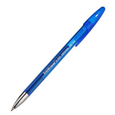 "614-037 Erich Krause Ручка гелевая синяя ""R-301 Ориджинал Джел"", 0,5мм, синий корпус, пластик, 40318"