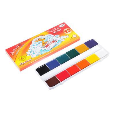 """231-025 ГАММА Акварель 12 цветов, без кисти, """"Мультики"""", в картонной уп., 211048"""