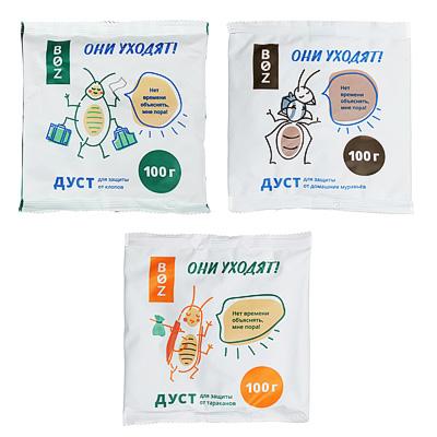 968-011 Дуст для защиты от клопов/тараканов/муравьев «BOZ», 100 гр