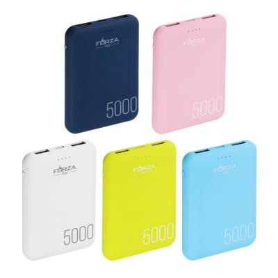 916-211 Аккумулятор мобильный FORZA 4000мАч, 1А, пластик, 4 цвета