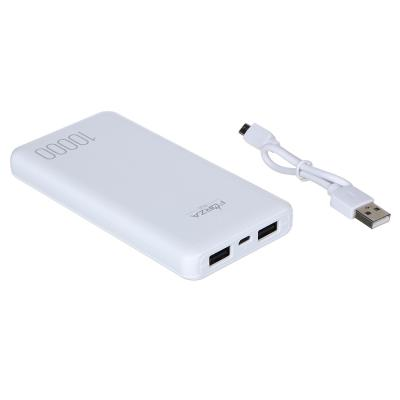916-214 Аккумулятор мобильный FORZA, 10000 мАч, 2 USB, 1А, пластик, 2 цвета