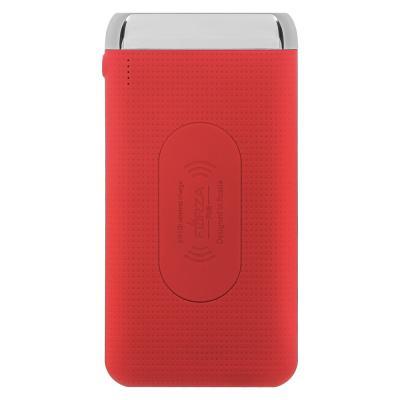 Аккумулятор мобильный беспроводной 8000 мАч, 2 USB, 2А, прорезиненный, пластик, 3 цвета-2