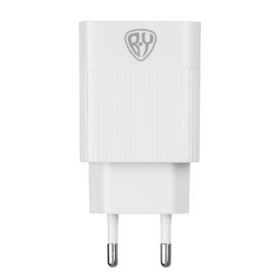 916-219 Устройство зарядное FORZA 220В, 3 USB, 3.4А, быстрая зарядка QC3.0, пластик, белое