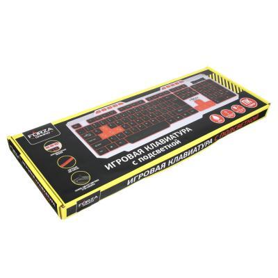 Клавиатура с подсветкой, провод 1.3м, USB, пластик-1