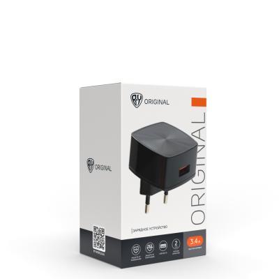 916-220 Устройство зарядное FORZA 220В, 3А , 1 USB, быстрая зарядка QC3.0, пластик, белое