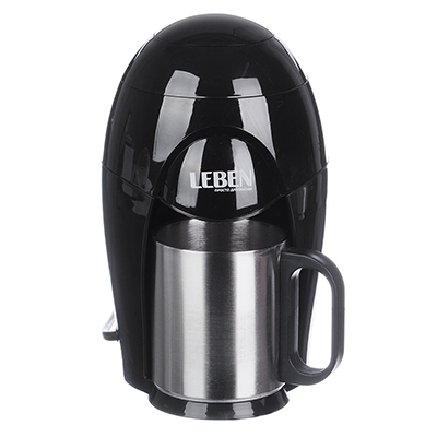 286-033 Кофеварка капельная LEBEN 400 Вт, на одну чашку, 150 мл