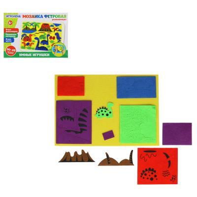 262-433 Мозаика фетровая развивающая, фетр, полиэстер, 28х20х1,5см, 2 дизайна