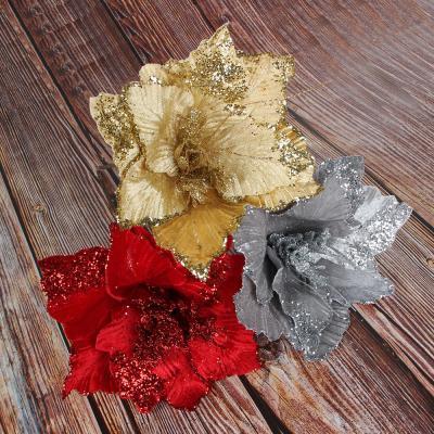 353-068 Цветок декоративный СНОУ БУМ текстиль, 25х36 см, 3 цвета