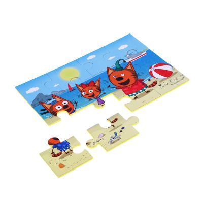 """262-436 ИГРОЛЕНД Пазлы для малышей """"Три кота"""", ЭВА, картон, 31,5х16,8х0,4см, 4 дизайна"""
