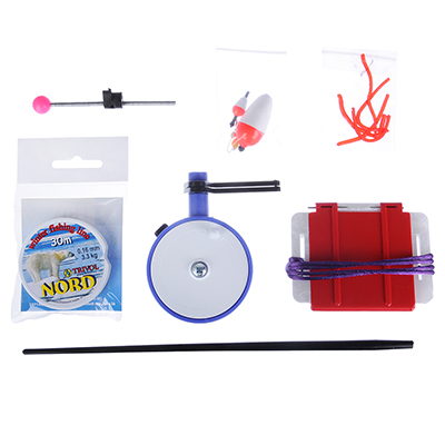 126-021 AZOR FISHING Набор для зимней рыбалки спортивный, 9 предметов