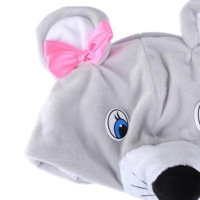 """389-237 Карнавальная маска-шапочка """"Мышка"""" размер 53-55 см, плюш"""