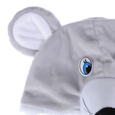"""389-238 Карнавальная маска-шапочка """"Мышка"""" размер 53-55 см, плюш"""