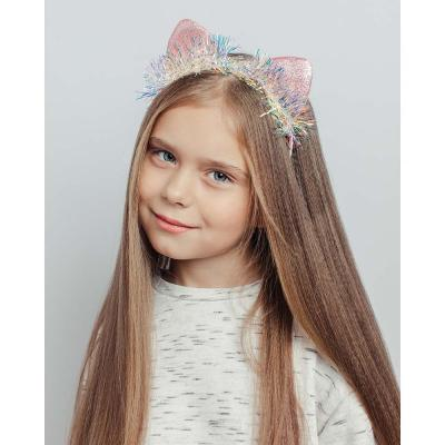 316-339 Ободок для волос, полиэстер, ПВХ, сплав, 0,5см, 3 дизайна