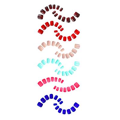 305-305 Набор накладных ногтей на клеевой основе ЮниLook, 24 пластины