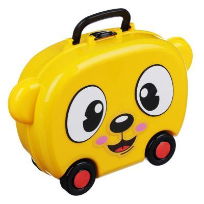 294-112 ИГРОЛЕНД Игровой набор в чемодане, 9-17 пр., пластик, 22х15,7х7,2см, 5 дизайнов