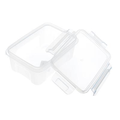861-280 Контейнер для продуктов с защелками прямоугольный 0,75л, пластик, прозрачный