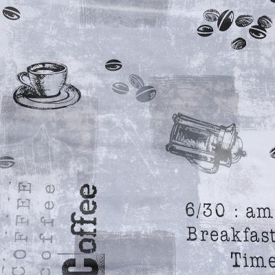 """423-054 Скатерть в рулоне 1,37х20 м """"Кофейный принт"""", ПВХ на нетканой основе"""