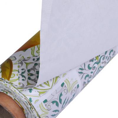 """423-069 Скатерть ПВХ в рулоне на тканой основе """"Лимонный пирог"""", 1,40х20м"""