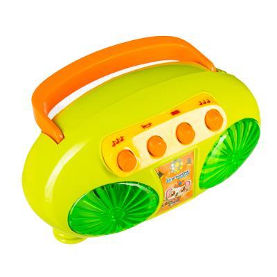 272-676 ИГРОЛЕНД Плеер-магнитофон, свет, звук, 2АА, пластик, 13х10х8см, 3 дизайна