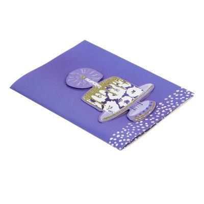 521-088 Открытка в конверте музыкальная с подсветкой, 20х14,5 см, 12 дизайнов, бумага