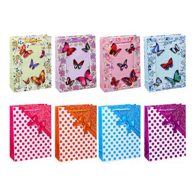 513-682 Пакет подарочный бумажный 24х18х7 см, 8 дизайнов