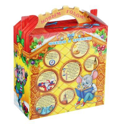 """369-418 Коробка для подарков """"Часики"""", картон 320г, 180х80х225мм, до 700г"""