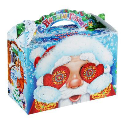 """369-420 Коробка для подарков """"Варежки """", картон 390г, 215х230х100мм, до 1000г"""