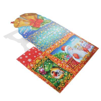 """369-423 Коробка для подарков """"Колокольчики"""", металлизированный картон 390г, 210х150х100мм, до 1000г"""
