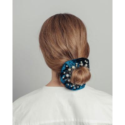 322-219 Резинка для волос с декором, d=10 см, полиэстер, пластик, 6 цветов