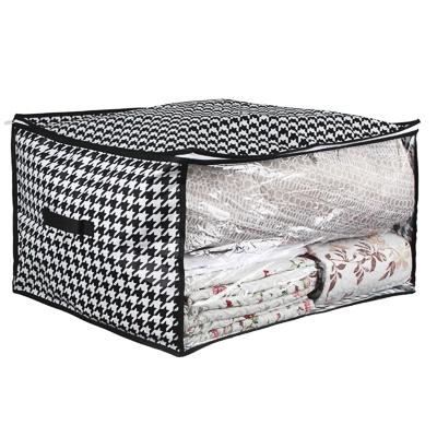 "457-492 Кофр для хранения подушек и одеял VETTA ""Элеганте"" с прозрачным окном, 60х50х35 см, спанбонд/ПЕВА"