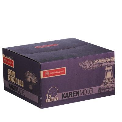 877-613 Noritazeh Karen Блюдо на ножке, 24смх12см, стекло, под.упак.