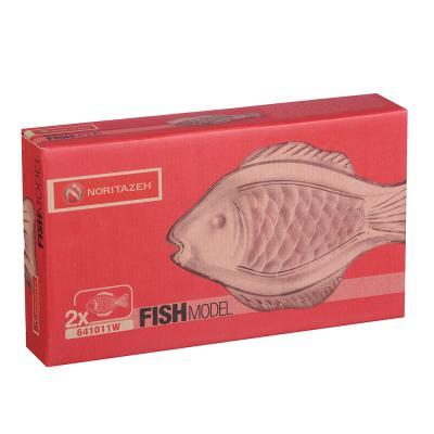 877-616 Noritazeh Fish Набор 2 блюд овальных, 29x16 см, стекло, под.упак.
