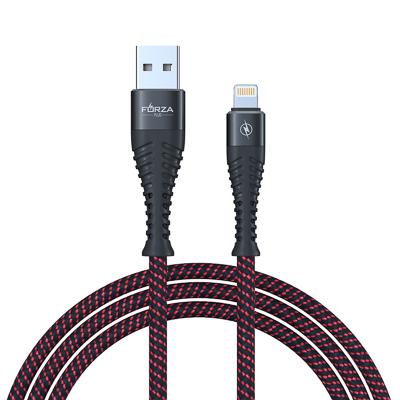 916-228 FORZA Кабель для зарядки, Плетение, iP, 2А, 1м, пластик