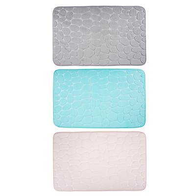 """462-677 VETTA Коврик для ванной, флис, 50x80см,""""Камешки"""", 3 цвета"""