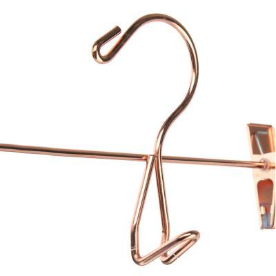 456-091 VETTA Вешалка металлическая для брюк/юбок с клипсами 30см, 2 цвета: розовое золото, золото