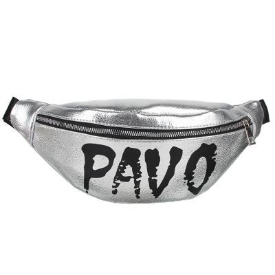326-072 PAVO Сумка поясная, ПУ, сплав, пластик, 34х13см/32х14см, 2 дизайна