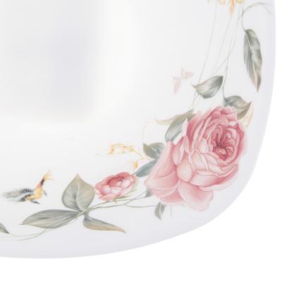818-459 MILLIMI Анета Салатник опаловое стекло 16,5см, квадратная форма, 19019